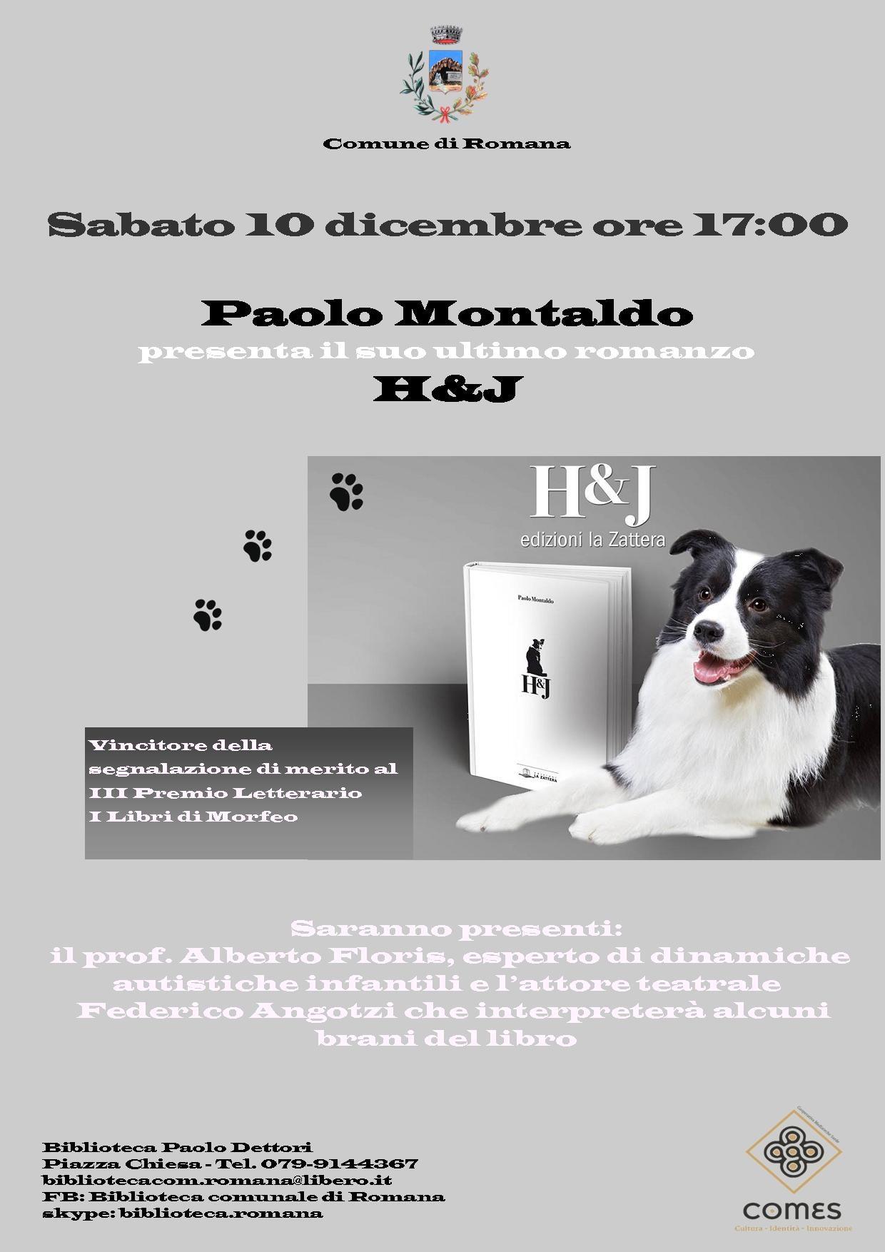Paolo Montaldo presenta il suo ultimo Romanzo H&J
