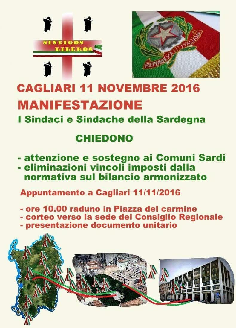 Manifestazione Sindaci Cagliari 11 novembre 2016