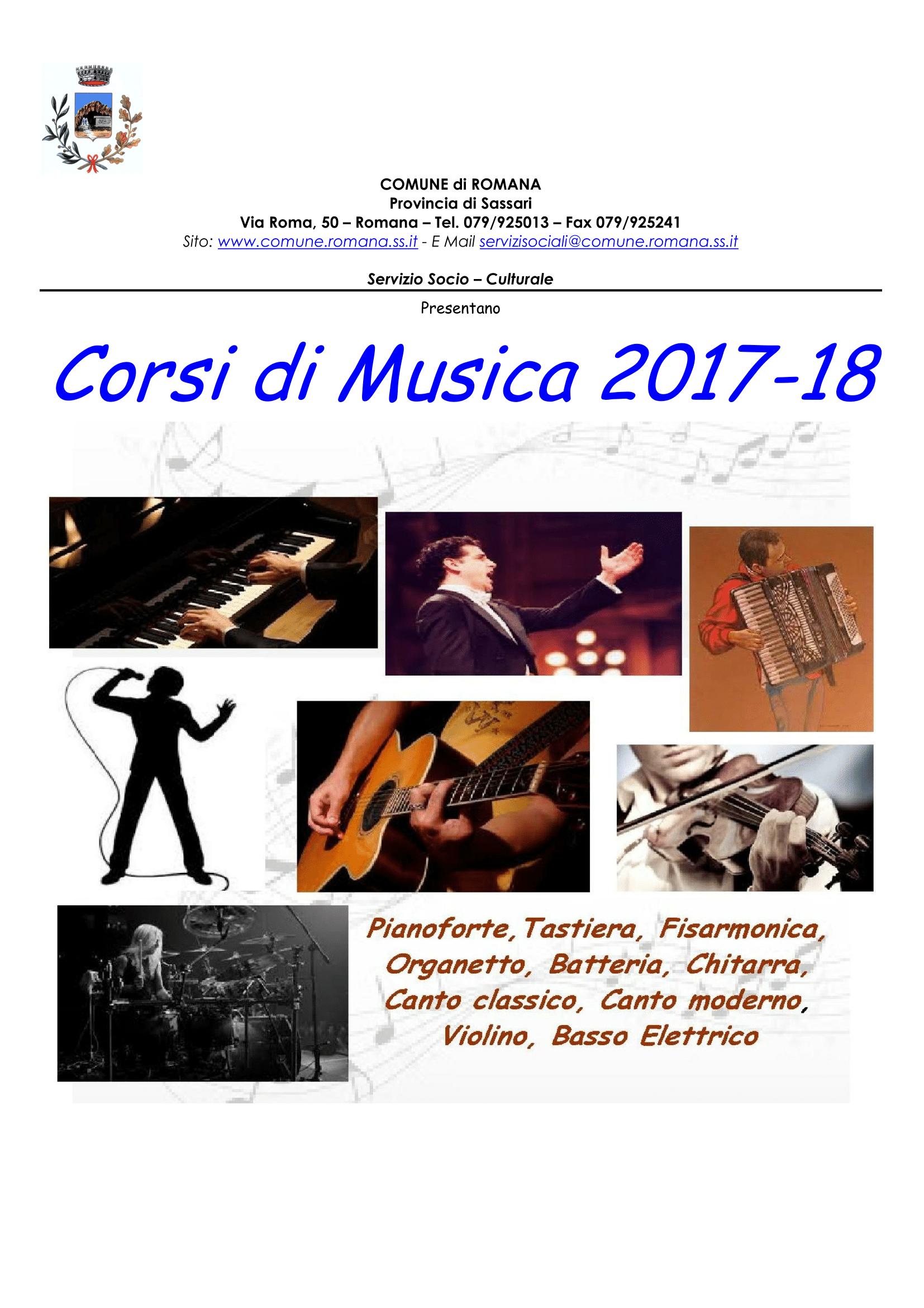 CORSI DI MUSICA 2017