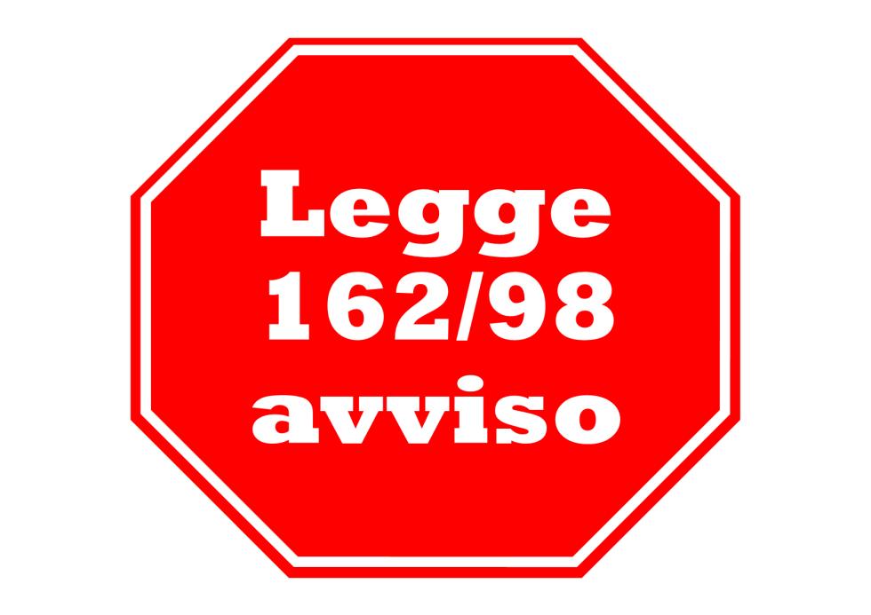 LEGGE 162/98 - PIANI PERSONALIZZATI DI SOSTEGNO A FAVORE DI PERSONE CON DISABILITA' GRAVE